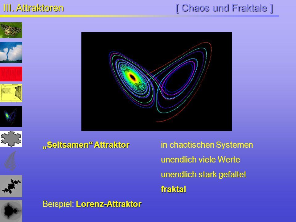 III. Attraktoren [ Chaos und Fraktale ]